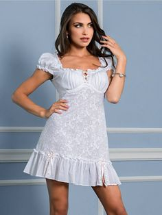 Cotton nightgown. White nightdress. by MiaDivaLingerie on Etsy