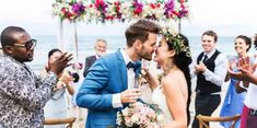 From shifting cultural views and gender norms to keeping up with modern wedding calls, here are some of the top 10 wedding etiquette questions and answers. Beach Wedding Guests, Beach Wedding Decorations, Wedding Reception, Backdrop Wedding, Wedding Kiss, Wedding Couples, Wedding Day, Wedding Punch, Golf Wedding