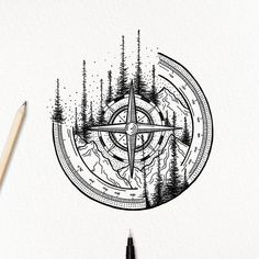 Amazing Compass and Mountain Tattoo Sketch - Amazing Compass and . - Amazing Compass and Mountain Tattoo Sketch – Amazing Compass and Mountain Tattoo Sketch – – # - Body Art Tattoos, Small Tattoos, Tattoos For Guys, Sleeve Tattoos, Bow Tattoos, Heart Tattoos, Tatoos, Tattoo Sketches, Tattoo Drawings