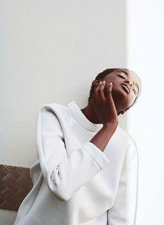 White on white contemplation…..Nyadak Thot by Dakota Gordon
