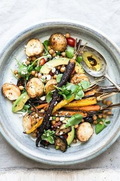 Roasted vegetables with a rich harissa dressing, ideal as a main dish or tasty side.