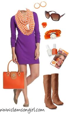 Clemson Girl Gameday Look - Fresh for Fall