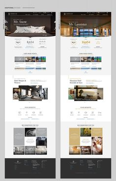 Hai Tran: Creative Direction & Design - Leading Hotels of the World: Site Redesign Hotel Website Templates, Hotel Website Design, Site Web Design, Page Layout Design, Website Design Layout, Web Layout, Design Blog, Design Design, Site Hotel