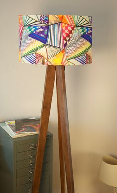 Re-pinned:  Colourful, geometric handmade drum lampshade designed by Ana Montiel.
