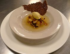 french culinary institute pastry program, days 91/92: soupe aux fruits exotiques epices, glace au gingembre et citronnelle by pellet13, via Flickr