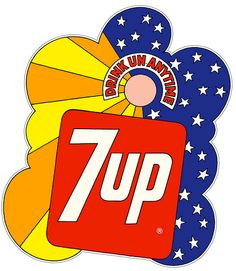 Peter Max--coolest 7Up sign ever!