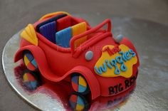The wiggles big red car cake topper. Ideal for kids birthday cake. It's about in length. Wiggles Birthday, Wiggles Party, 3rd Birthday Cakes, Birthday Ideas, Happy Birthday, Wiggles Cake, The Wiggles, Fondant Cake Toppers, Cupcake Cakes
