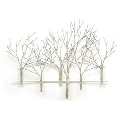 "Universal Lighting and Decor Winter Orchard 39"" Wide Modern Metal Wall... (£210) ❤ liked on Polyvore featuring home, home decor, wall art, backgrounds, winter, fillers, trees, metal home decor, metal wall art and tree home decor"