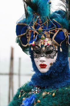 Europe - Italy / Carnival in Venice #masks #venetianmasks #masquerade http://www.pinterest.com/TheHitman14/art-venetian-masks-%2B/