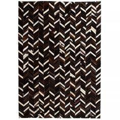 Bloomsbury Market Rug Genuine Leather Patchwork Cm Chevron Black/White Bloomsbury Market Rug Size: Rectangle 80 x Patchwork Rugs, Patchwork Designs, Neutral Color Scheme, Color Schemes, Carpet Mat, Rugs On Carpet, Black And White Carpet, Soft Flooring, Quilts