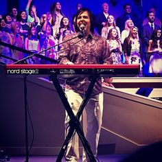 One of my most favorite things to do in the whole world is to lead worship. And my favorite place to do it is at my home church #NCCOG! Our Resurrection Celebration today was AWESOME!! What an honor to serve God's people at North Cleveland Church of God. #HEISRISEN! #Nord #Stage2 #whitepants #purplepaisley #StoneRose #shitt #yellowarmanishoes #armani #ThisChangesEverything @nccog