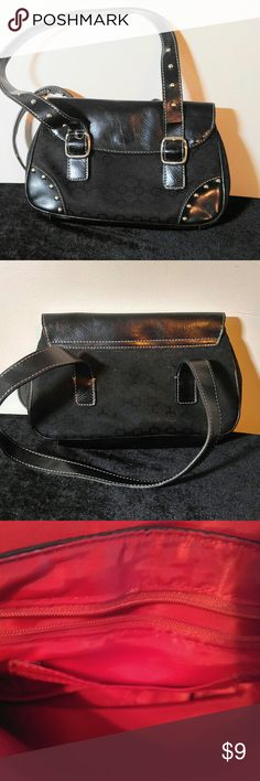 Cute Nine West Black Purse-Small Nine West Purse- 10 X 6.5 with a 5.5 in. Drop Nine West Bags Mini Bags