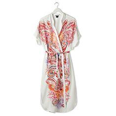 Kuviollinen kimono Valkoinen