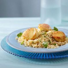 Curry Scallops & Cilantro Rice for Two Recipe