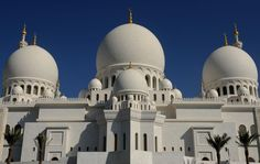 The Sheikh Zayed Mosque in Abu Dhabi. Click to view more photos of mosques from around the world.