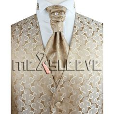 wedding formal wear man's waistcoat (waistcoat+ascot tie+cufflinks+handkerchief)