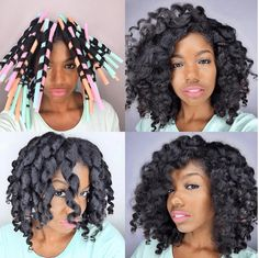 These Milkshake Straw Curls on Natural Hair are great for creating the wavy curly style. Straw Set Natural Hair, Natural Hair Tips, Natural Hair Styles, Natural Curls, Natural Life, Curled Hairstyles, Cool Hairstyles, Straw Curls, Stewart