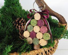 Wine Cork Christmas Tree Ornament. $9.99, via Etsy.  Cute DIY project