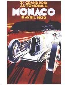 Retro Vintage Man Cave A4 A3 Brooklands Racing Framed Canvas Art Print Poster