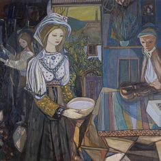 Kai Breder Fjell ka fjl March 2 1907 January 10 1989 was a Norwegian painter printmaker and scenographer Kai Fjell Personal life Career Selecte Kai, Expressionist Artists, Expressionism, Modernist Movement, Turquoise Art, Scandinavian Art, Cubism, Trance, Painting & Drawing