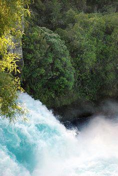 Huka Falls, Waikato River, Taupo, North Island, New Zealand.  Photo: geoftheref, via Flickr