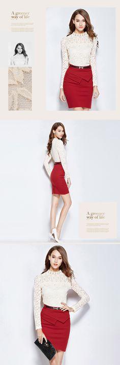 #Bluza din dantela pentru o tinuta eleganta si rafinata. Disponibila pe alb sau negru pe site-ul #TopFashion.