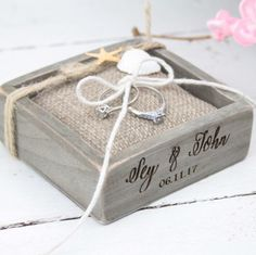 💕Beach Wedding Ring Box/Pillow💕