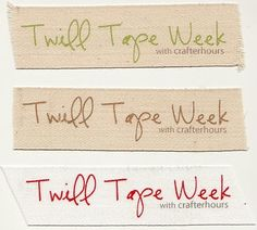 crafterhours: Twill Tape Week: Printing on Twill Tape I need to experiment with this ... compare to the iron-on options I've seen