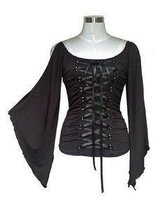 lace-up corset blouse - needs color ribbon