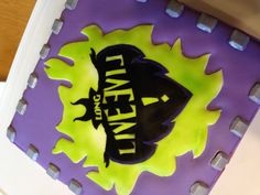 Descendants cake, I made it with my sister