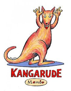 Kangarude illustration, created for the Mambo collective, Australia, by Matthew Martin. Kangaroo Illustration, Surf Design, Surfboard Art, Australian Art, Australian Fashion, Keith Haring, The Guardian, Rock Art, Creative Director