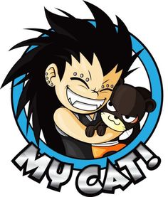 Gajeel always wanted a widdle kitty to call his own.. Everyone else has one... :D This is just too cute!