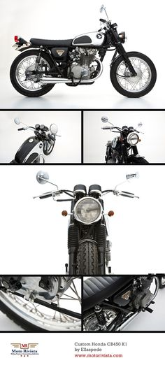 Custom #Honda CB450 K1 by Ellaspede ~ featured on Moto Rivista