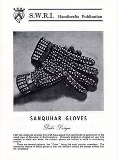 Sanquar Gloves, Duke design knitting pattern