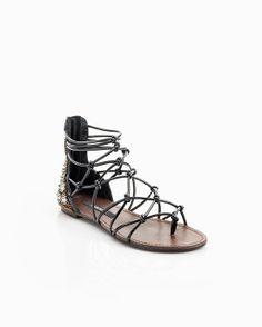 cute laceup sandals.