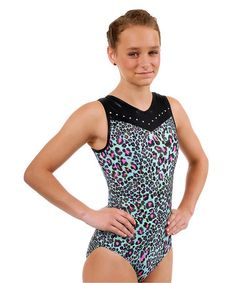 Take a look at this Aqua Christina Cute Cat Leotard - Girls by TumbleWear on #zulily today!