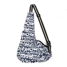 Amzdeal Portable Pet Cross-body Bag, Pet Carrier, Oxford Cloth, Dark Blue Letter Pattern *** Learn more by visiting the image link.