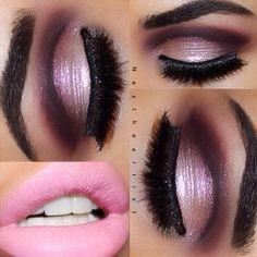 "New look from neztheartist. Using @motivescosmetics pro palette "" vino"" ""chocolight"" @motivescosmetics gel liner ""little black dress"" source"