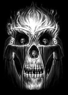 Art of Anne Stokes Anne Stokes, Skull Pictures, Dragons, Geniale Tattoos, Fire Art, Illusion Art, Chicano, Skull Design, Art Graphique