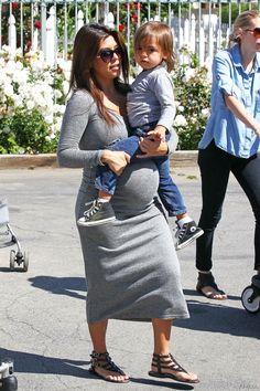 Pregnant Kourtney Kardashian and Mason Dash Disick Bonding Time in Calabasas | Kourtney Kardashian