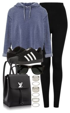 """""""Untitled #12235"""" by vany-alvarado ❤ liked on Polyvore featuring Topshop, Ray-Ban, Miss Selfridge, adidas and Forever 21"""
