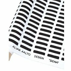 Gotta get me some!  Artek Siena White/Black Cotton Fabric