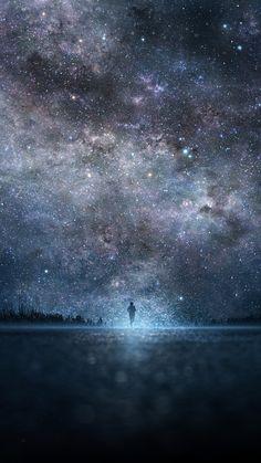 Star, Art, Sky, Night, People, Silhouette