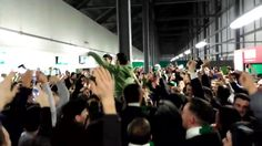 We are Hibs - Hibs Fans Feb 2017 during 3 win over Hearts in Scottish cup Feb 2017, Fans, Hearts, Football, Concert, World, Youtube, Soccer, The World