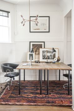 Home Interior Catalogo How to Hack a Home Office in a Small Space Modern Office Decor, Stylish Office, Home Office Design, Home Office Decor, Office Designs, Office Ideas, Home Interior, Interior Design, Cool Office Space