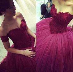 Blood Red stunning Ball Gown!