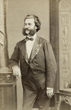 Johann Strauss junior. Paris. Photography. Around 1875.
