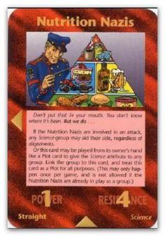Illuminati Card Nutririon Nazi