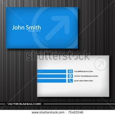 Blue futuristic business card vector template httpwww vector abstract creative business cards stock vector colourmoves