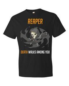 Overwatch Reaper - Black Short sleeve t-shirt